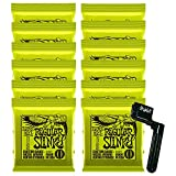 12 Sets of Ernie Ball 2221 Nickel Regular Slinky Electric Strings (10-46) w/ Free String Winder