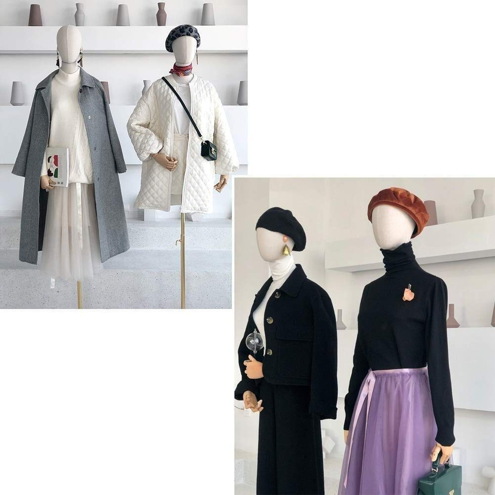 DYB-Dressform Mannequin Mannequin Dressmakers Torso Female Tailors Dummy Display Bust for Fashion Clothing with Head Square Base Model Tailors Dummy Color : Black, Size : Small