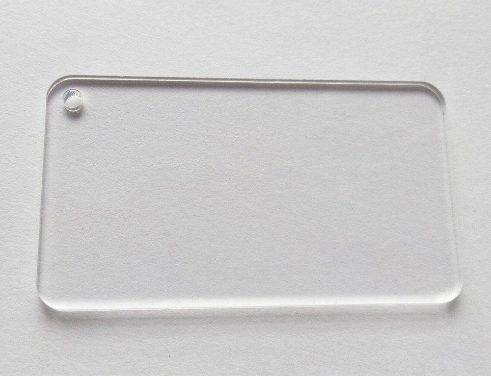7,6cm Clear étiquettes vierges de rectangulaire en acrylique Round Edge Mariage Porte-clés Save Date 10pcs/lot 6cm Clear étiquettes vierges de rectangulaire en acrylique Round Edge Mariage Porte-clés Save Date 10pcs/lot