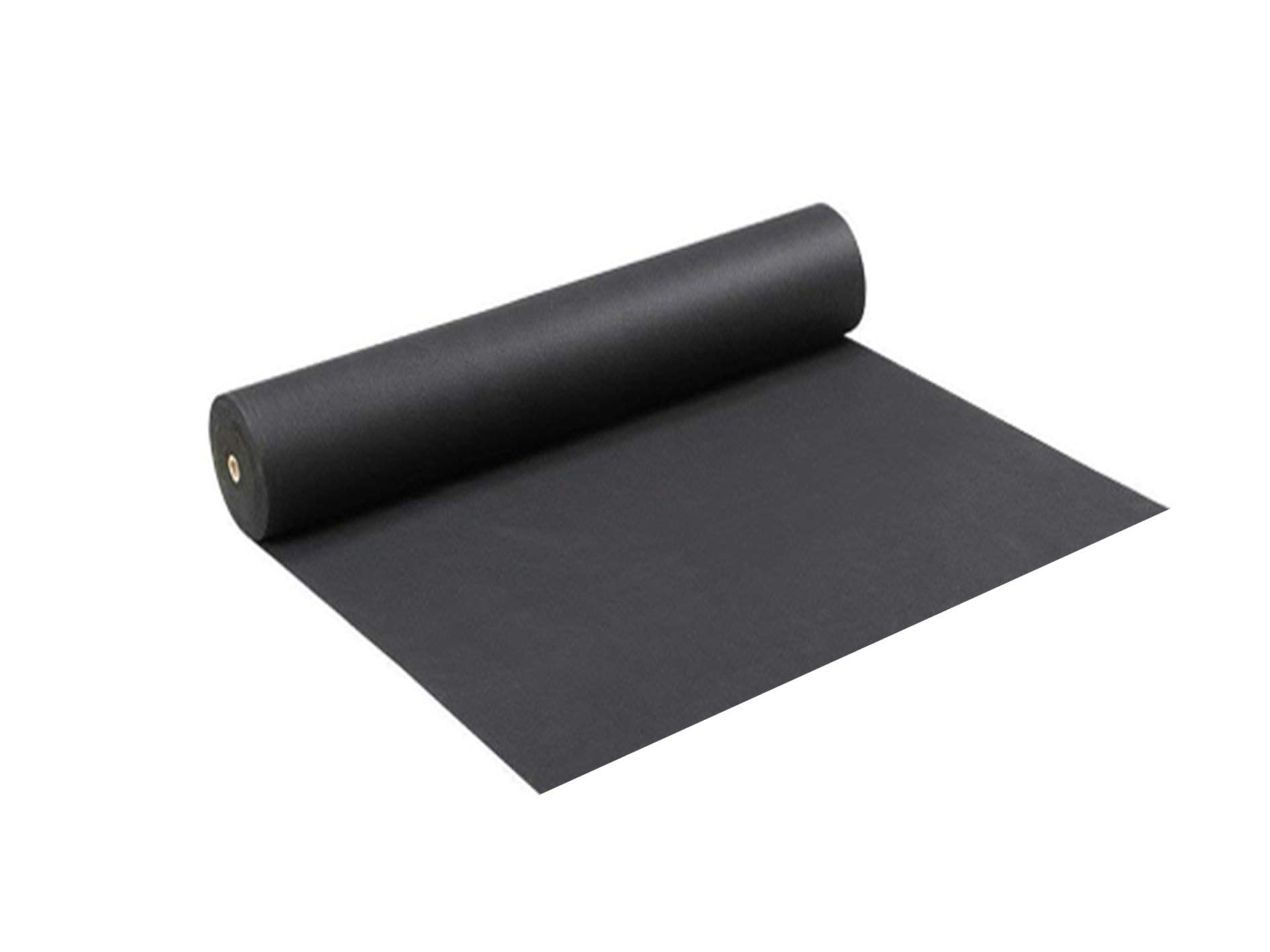 LAVZAN 4.92ftx26.24ft Black Garden Weed Barrier Landscape Fabric Non-Woven Fabric Barrier Durable & Heavy-Duty (90g/m²) Weed Block Gardening Mat, Easy Setup & Superior Weed Control, Eco-Frie