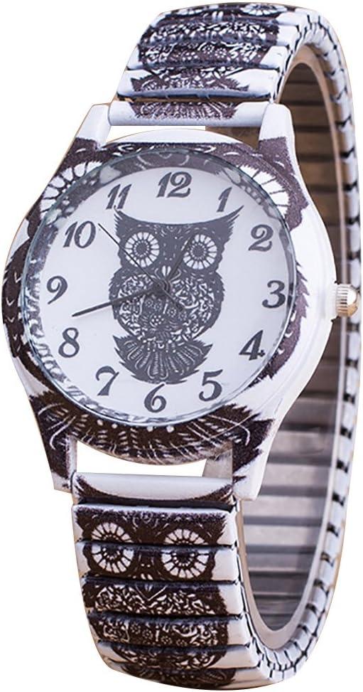 Flores primavera impreso reloj de acero inoxidable reloj de pulsera