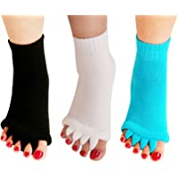 Yoga Sports GYM Five Toe Separator Socks Alignment Pain Health Massage Socks, Prevent Foot Cramps, One Pair