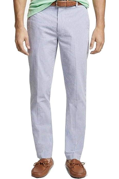 Brooks Brothers Men S 57355 Clark Fit Stripe Seersucker Pants
