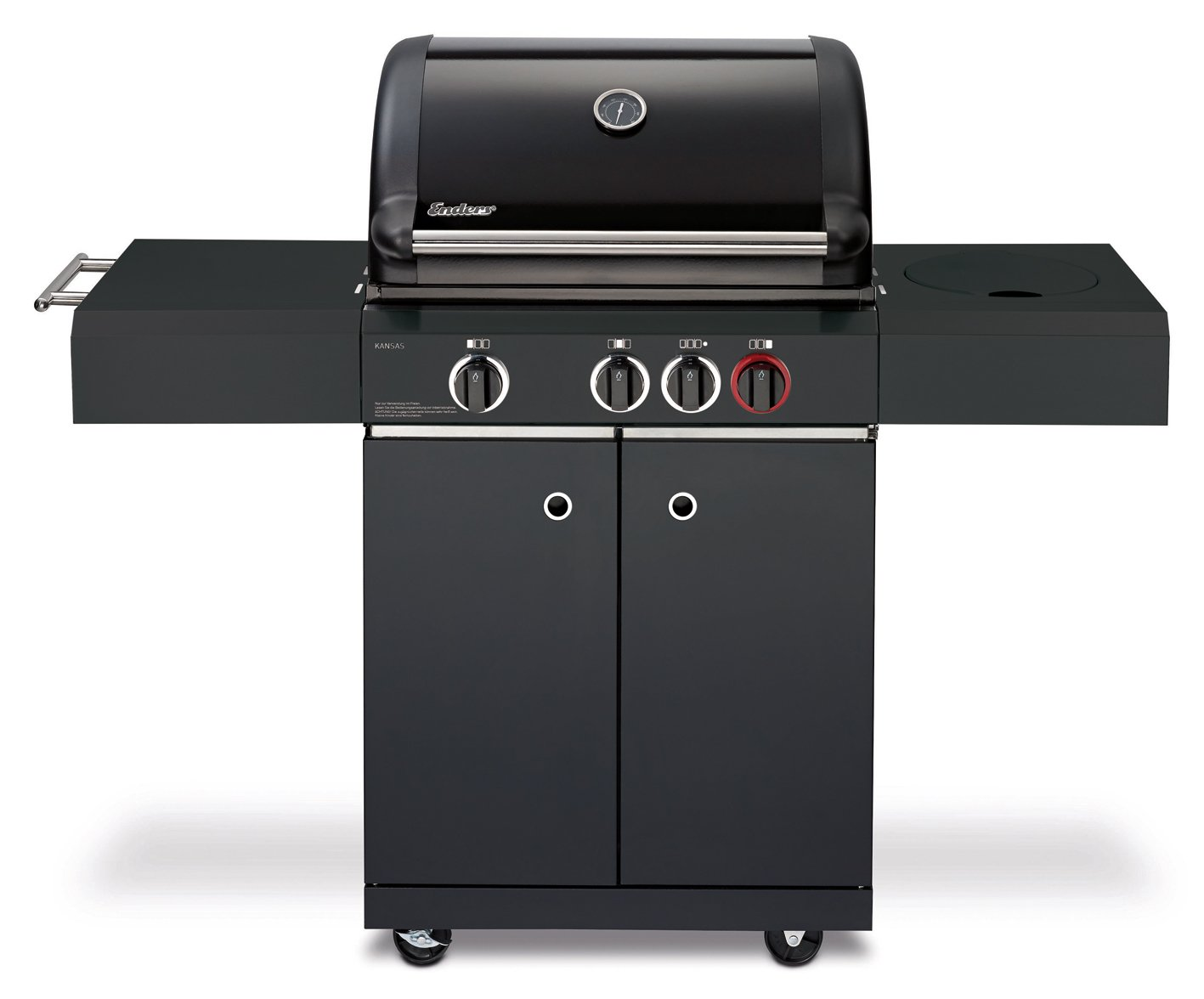 Enders Gasgrill Boston Black 4 Ik Zubehör : Enders gasgrill kansas black k turbo amazon garten