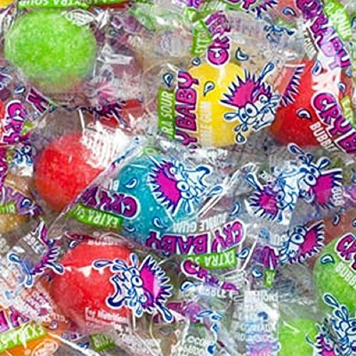 Crybaby Bubble Gum - Cry Baby Extra Sour Gumballs 48 Count