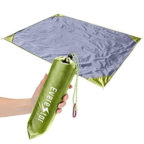 Manta de Picnic, Everestor Blanket de Playa 200cm x 150cm Grande Durable Ligero compacto Forro Impermeable ...