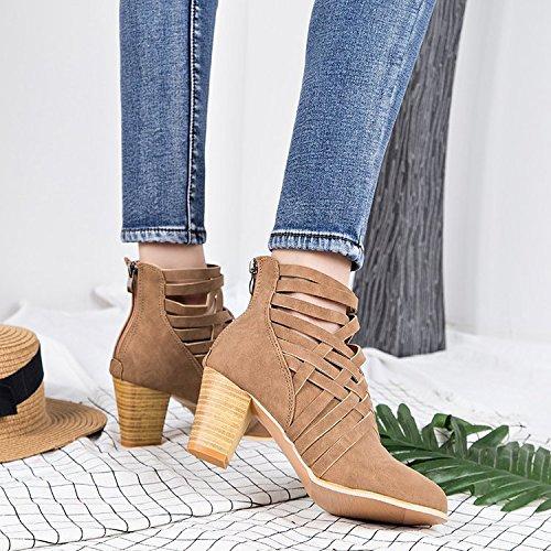 Donyyyy Botas de tacón de zapatos de mujer Thirty-seven