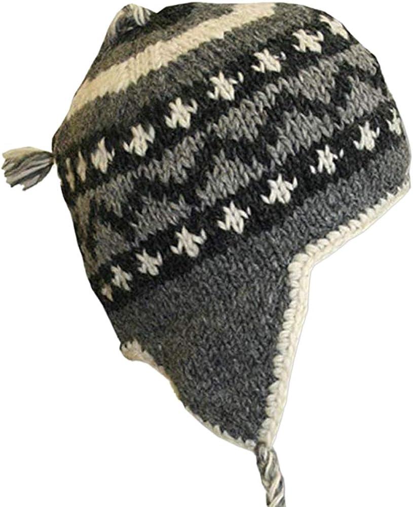 Kanada Shop Adult Earflap Hat Grey /& Black Mix