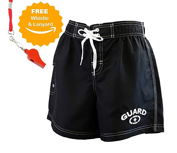 84b9384e32b7e Adoretex Women's Guard Quick Dry Water Board Shorts, Free Whistle and  Lanyard - FGB06U -