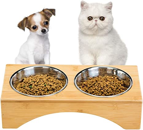 Amazon.com: Comedero elevado para perros y gatos de GOBAM ...