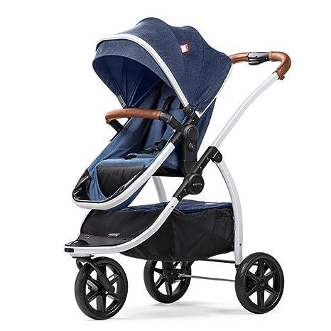 Olydmsky Carro Bebe,Alta Vista del Cochecito de bebé Puede reclinables luz Plegable suspensión Cochecito