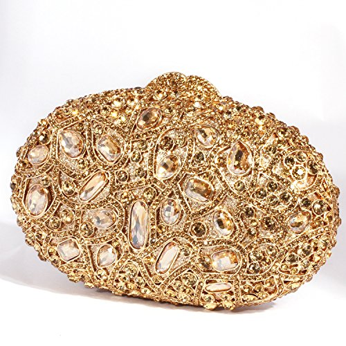 Evening Bags Clutch Pattern Colourful Circular Gold Women Digabi Crystal leaf P0YnCq8WWS