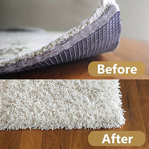 Antallcky Rug Grippers,24pcs Anti Curling and Non Slip Rug Carpet Gripper,Strong Stickiness without Hurting Floor, Stop Slipping, Reusable for Various Floors and Rug Pads-Set of 24,White by Antallcky (Image #1)
