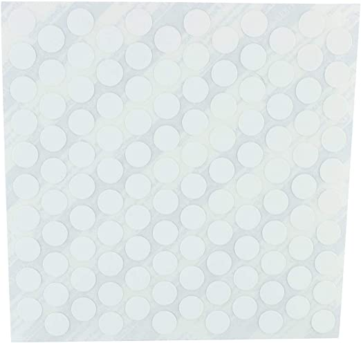 Box of 1060 FastCap White Plastic Self Adhesive Screw Cap Covers
