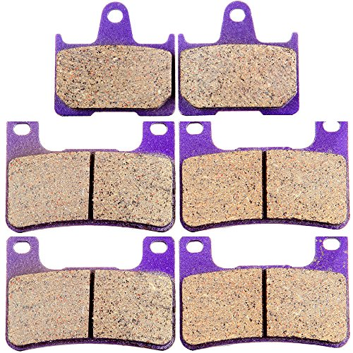 ECCPP Front and Rear Kevlar Carbon Brake Pads Fits 2004-2006 Suzuki GSXR GSX-R 600 750 1000