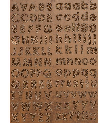 Safari Cardstock Stickers 8-1/2-Inch by 12-Inch Sheet, Leopard Print Alphabet -  Notions - In Network, SAF-ST1-102