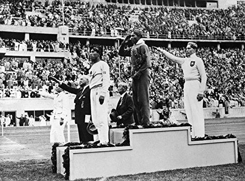 """Jesse Owens 1936 Olympics, 20"""" x 15"""" - B&W Photo Art Print"""