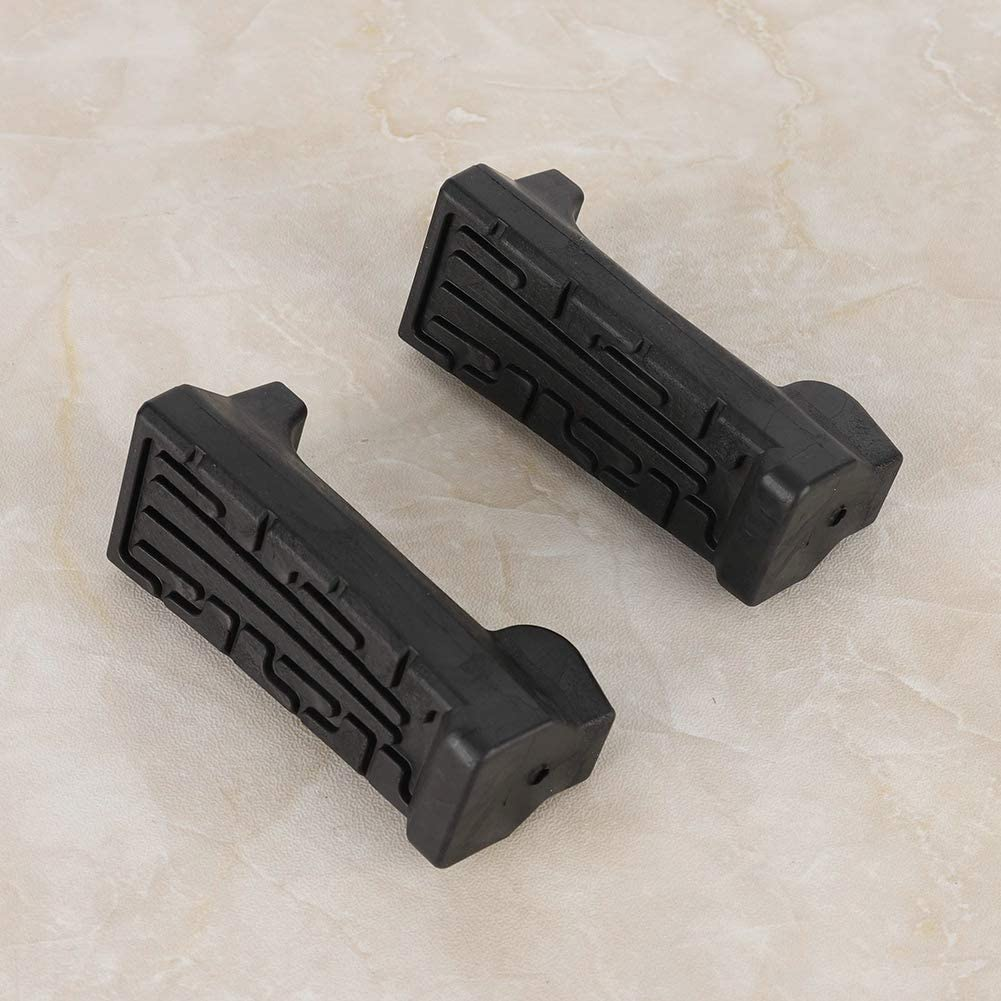 HGY 1 Pair Rubber Front Pedal Footrest Foot Pegs Fit for Yamaha YBR 125