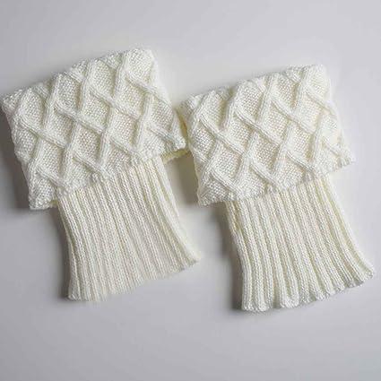 1 par Mujeres niñas Botas cortas Calentador de piernas de punto ...