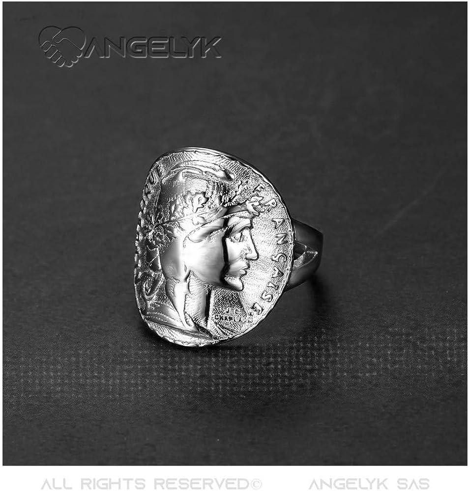 Bague Femme Chevali/ère Cintr/ée Marianne Pi/èce 20 Francs Mariane Louis Napol/éon 4 Couleurs au Choix BOBIJOO Jewelry