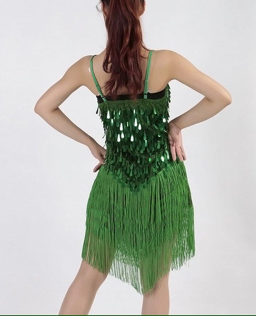 Femme Latin Tango Rumba Salsa Costume Robe de Danse de Cocktail Party Vetement de Danse