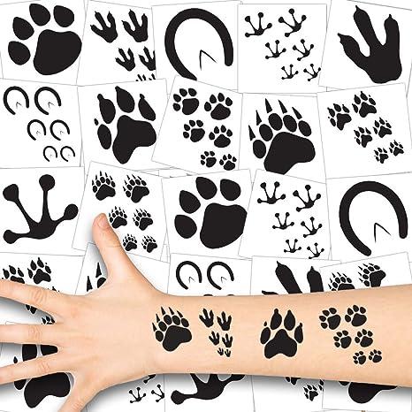 German Trendseller® - 36x Huellas Animales Tatuajes para niños ...