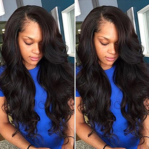 8A Grade Unprocessed Lace Front Wigs Human Hair Brazilian Virgin Remy Hair Body Wave Lace Wigs for Black Women with Full Pre Plucked Natural Hairline 130% Density