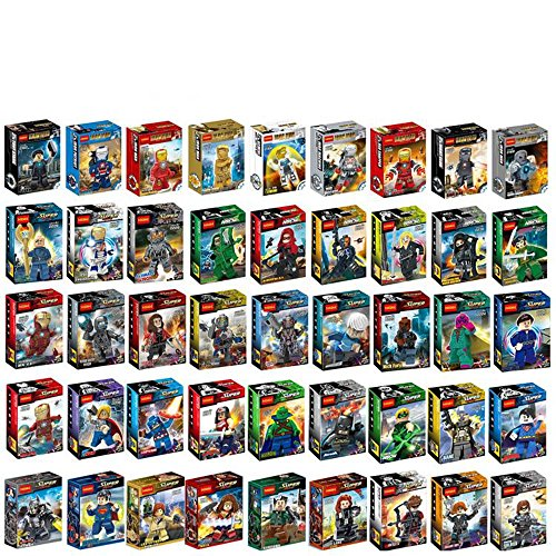 [Marvel Avengers Iron Man Assemble Pack of 45 Block Toys Compatible with Lego] (Construction Costume Iron Man)