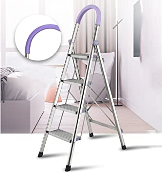 QFFL tideng Escalera de acero inoxidable Escalera de tubo cuadrado Escalera plegable de acero inoxidable Escalera plegable telescópica (Color : A): Amazon.es: Bricolaje y herramientas