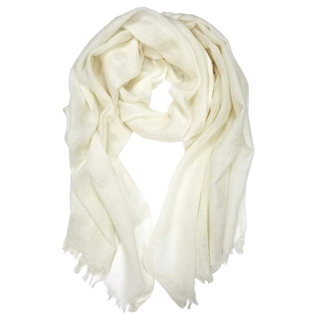 DIY White Plain Merino Wool Scarf - 100% Merino Wool Solid White Scarf - Nuno Wet Felting Project - Shibori - Eco Print - Printing - Embroidery - Other Fiber Crafts