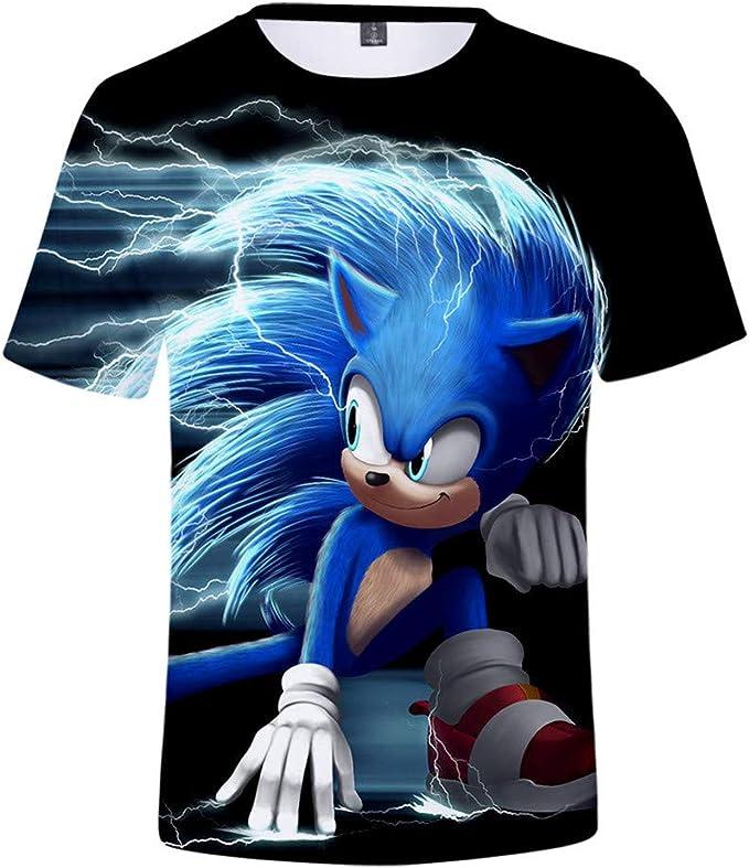 IFITBELT Camisetas Divertidas 3D De Sonic The Hedgehog Hombres ...