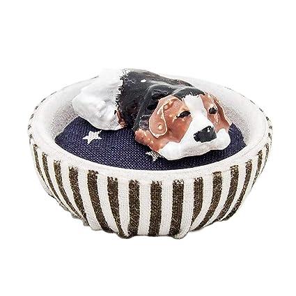 Amazon.com: Odoria 1: 12 Miniatura cojín redondo cama para ...