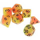HOMYL 7pcs Luminous Dice Set Polyhedral Dice for DND Dungeons and Dragons Playing Games #3