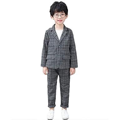 04ce4f8f5c901 COCO1YA(ココイチヤ) 子供スーツ 男の子 上下セット フォーマル フォーマルスーツ チェック柄 入学式