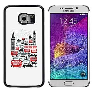 iKiki Tech / Estuche rígido - Symbols Double Decker Big Ben - Samsung Galaxy S6 EDGE SM-G925