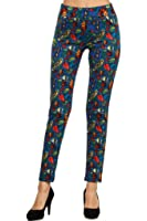 Simplicity® Women's Print Skinny Tregging Legging Pants, Stretch Fit