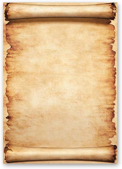 100 fogli di carta da lettera decorati Antico & Storia PERGAMENA ...