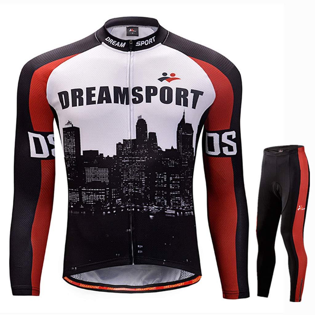 Lilongjiao Herbst und Winter Herren langärmelige Outdoor Sports Jersey Anzug Mountainbike Bekleidung