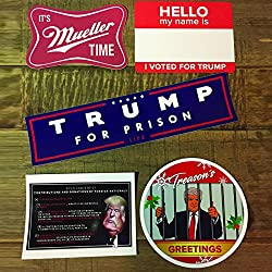 Anti-Trump Stickers - 5 Unique Treason Stickers