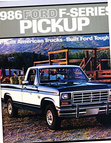 1986 Ford F-Series F-150 Truck 26-page Car Sales Brochure Catalog - Crew (Ford F150 Brochure)