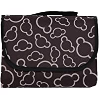 "Honeystore Pattern Printed Portable Lightweight Waterproof Black Picnic Blanket Sand Resistant Blanket Family Picnic Rug Outdoor Camping Handy Tote Ground Mat Travel Sleeping Blanket Tote 59"" x 79"""
