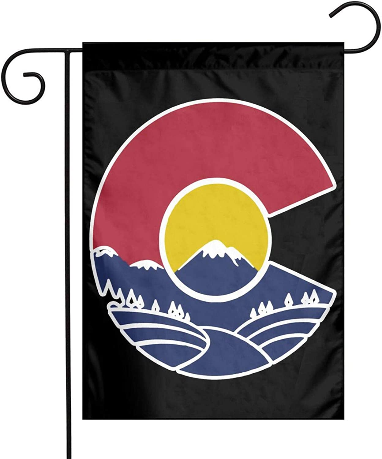 Augenstern Garden Flag Rocky Mountain Colorado C 12 X 18 Inch Winter Yard Flag Double Sided Yard Decorations Holiday Outdoor Flag