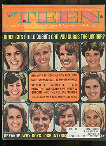 55f6090c6b8  TEEN-1964-NOVEMBER-AMERICA S SMILE QUEEN-ROLLING STONES-BEACH BOYS-BEATLES  at Amazon s Entertainment Collectibles Store