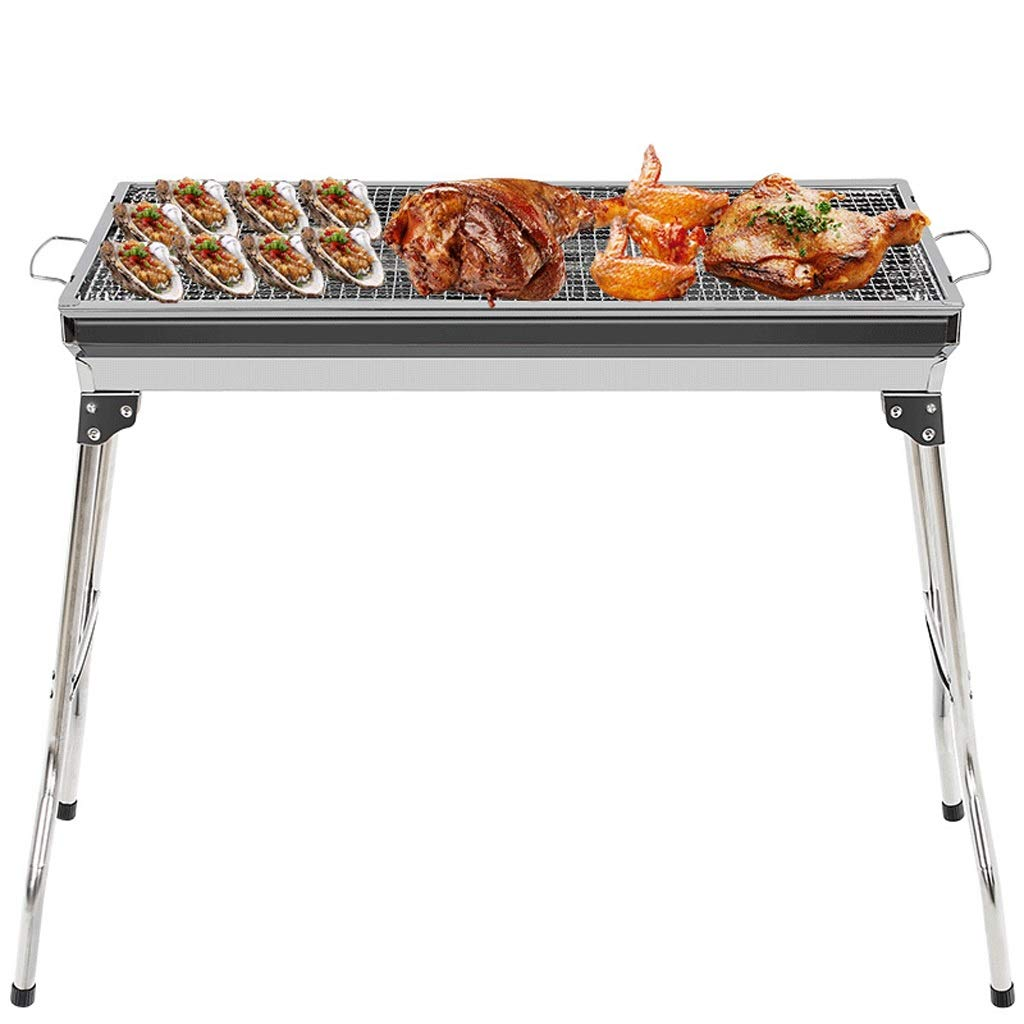 MEI XU Barbecue Grill BBQ Grill - Portable Stainless Steel Outdoor Charcoal BBQ Grill, Tabletop Cooking Charcoal Grill