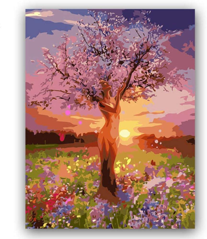 WACYDSD Puzzle 1000 Piezas Bricolaje Fotos Vida Árbol Rosa Bosque Paisaje: Amazon.es: Juguetes y juegos