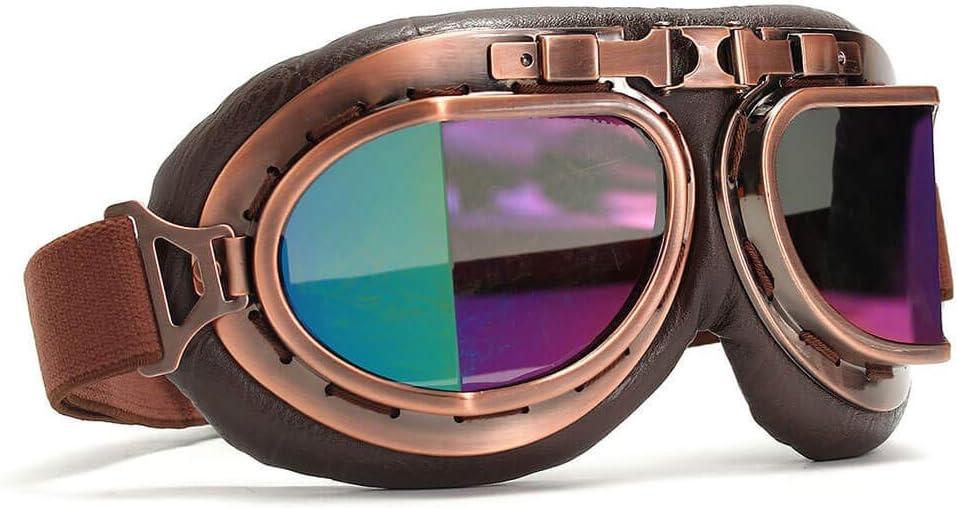 Retro Vintage Helmet Glasses Motorcycle Flying Eyewear Cafe Racer Riding Goggles