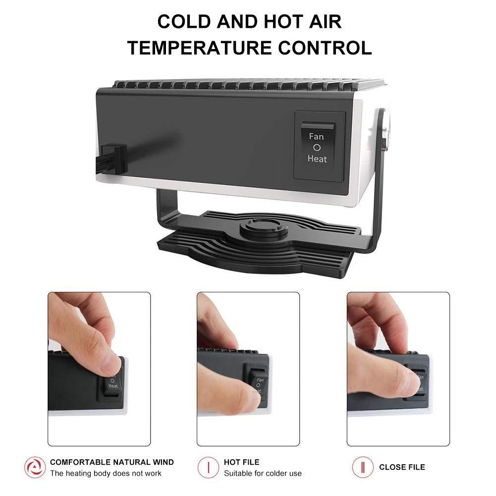 Descongelador Port/átil para Coche TATAI 150W 12V,24V Calefactor De Coche Furgoneta Descongelador De Parabrisas De Invierno12V