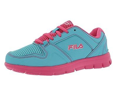 Fila Speed Runner Running Kid s Shoes Size 1.5 Blue Fuchsia c57d1c24797e
