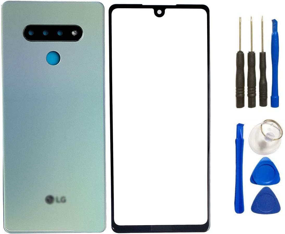 White Frame Tape and Camera Lens Pre Install Replacement Compatiable with LG Stylo 6 HQB-STAR for Stylo 6 Back Glass Cover+Front Outer Screen Glass Lens Removal Tools NO LCD and Touch Digitizer