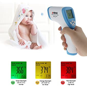 Non-contact Thermometer Digital LCD Infrared Forehead Body Temperature Meter !
